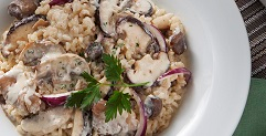 Italian Stewed Rice with Mixed Mushroom