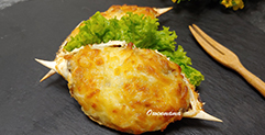 Baked Stuffed Crab Shell with Cheese