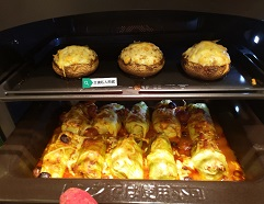 Pork and Cabbage Rolls x Stuffed Mushrooms With Cheese